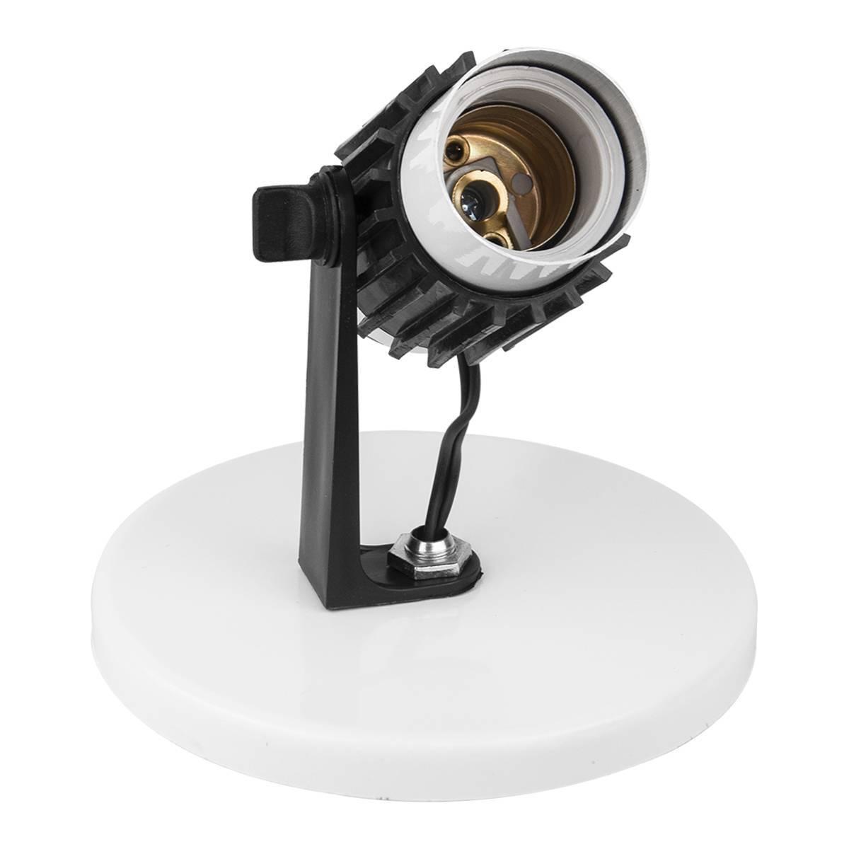 Spot Sobrepor Alumínio Para 1 Lâmpada 60w E27 Enerlux - LCGELETRO
