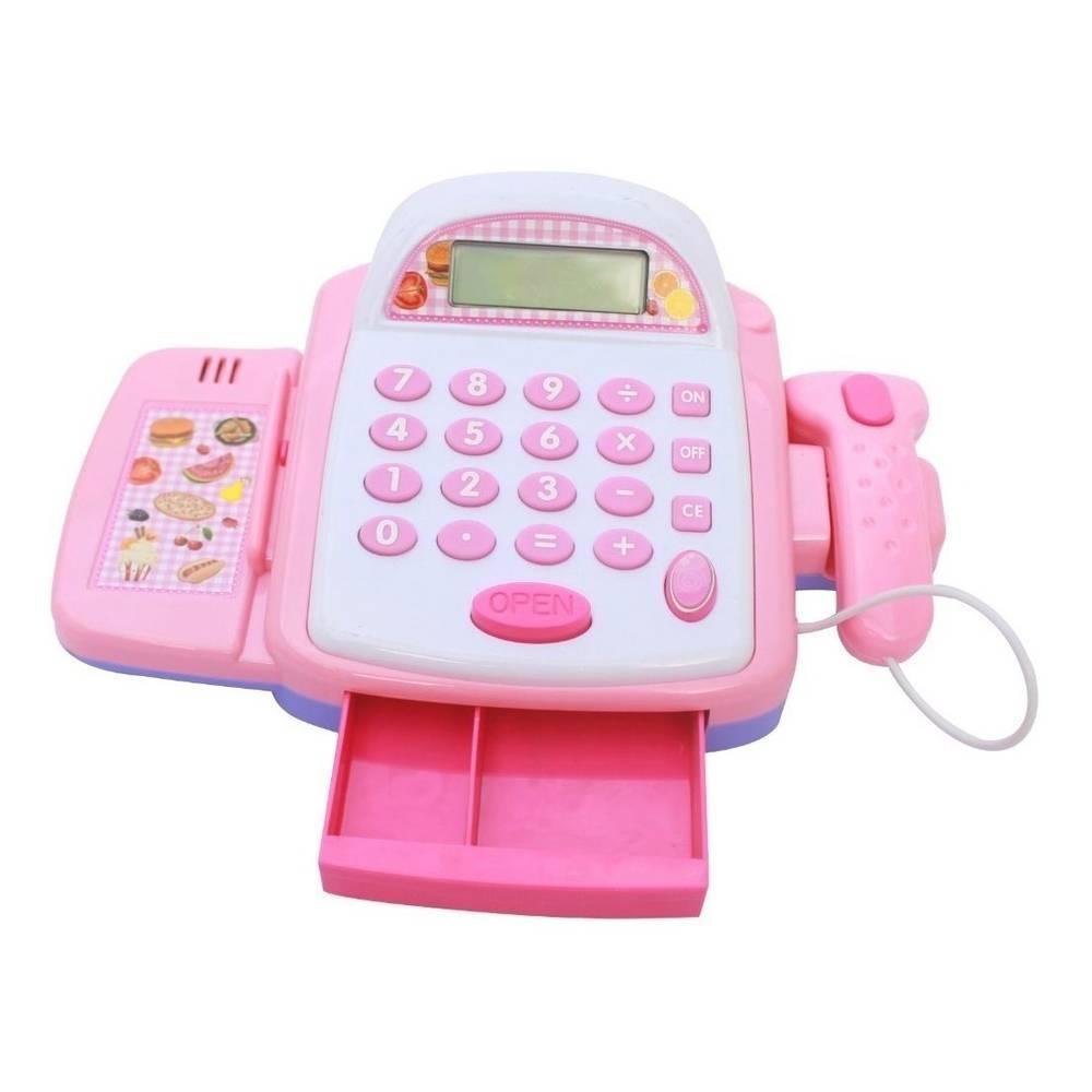 Caixa Registradora Infantil Calculadora Mercadinho Luz e Som - LCGELETRO