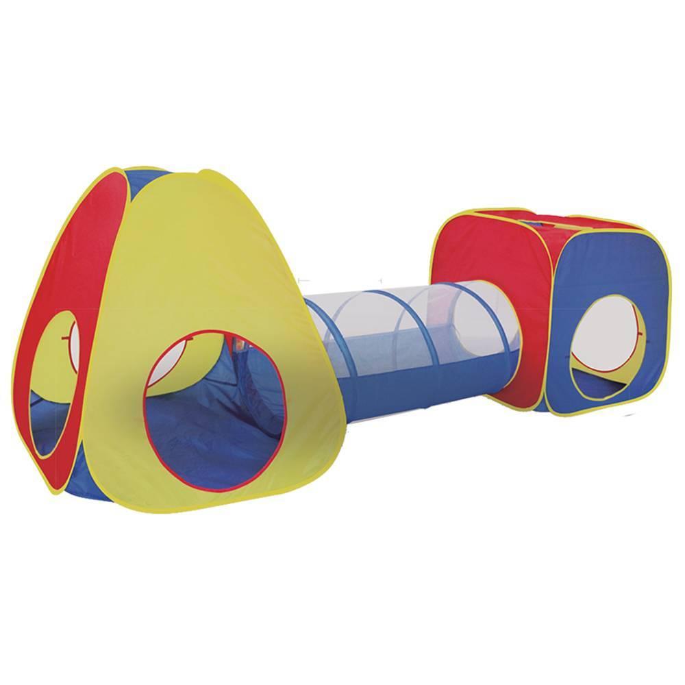 Barraca 3 em 1 Infantil 2 Tocas E Túnel Com 50 Bolinhas - LCGELETRO