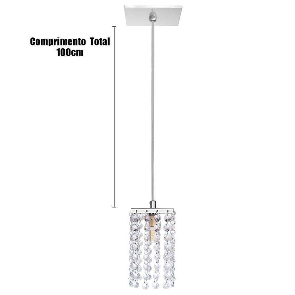 Luminária Pendente Acrílico Moderno 15x8cm G9 - LCGELETRO