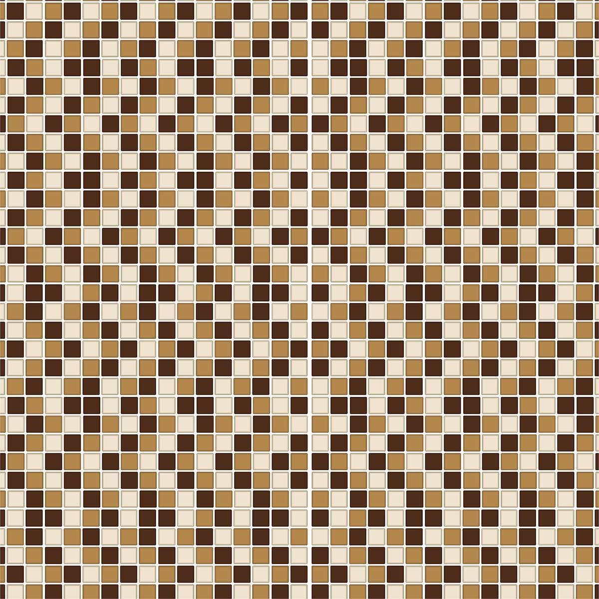 Papel De Parede Adesivo Pastilha Mesclado Marrom 300x52cm - LCGELETRO