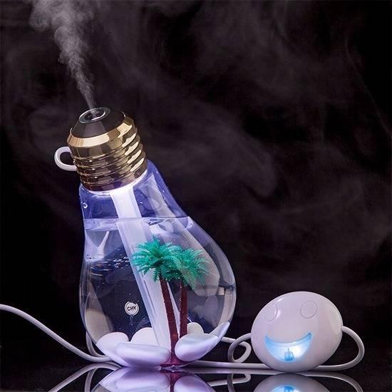 Umidificador De Ambiente/Ar Difusor Lâmpada Luz Led USB 400m - LCGELETRO