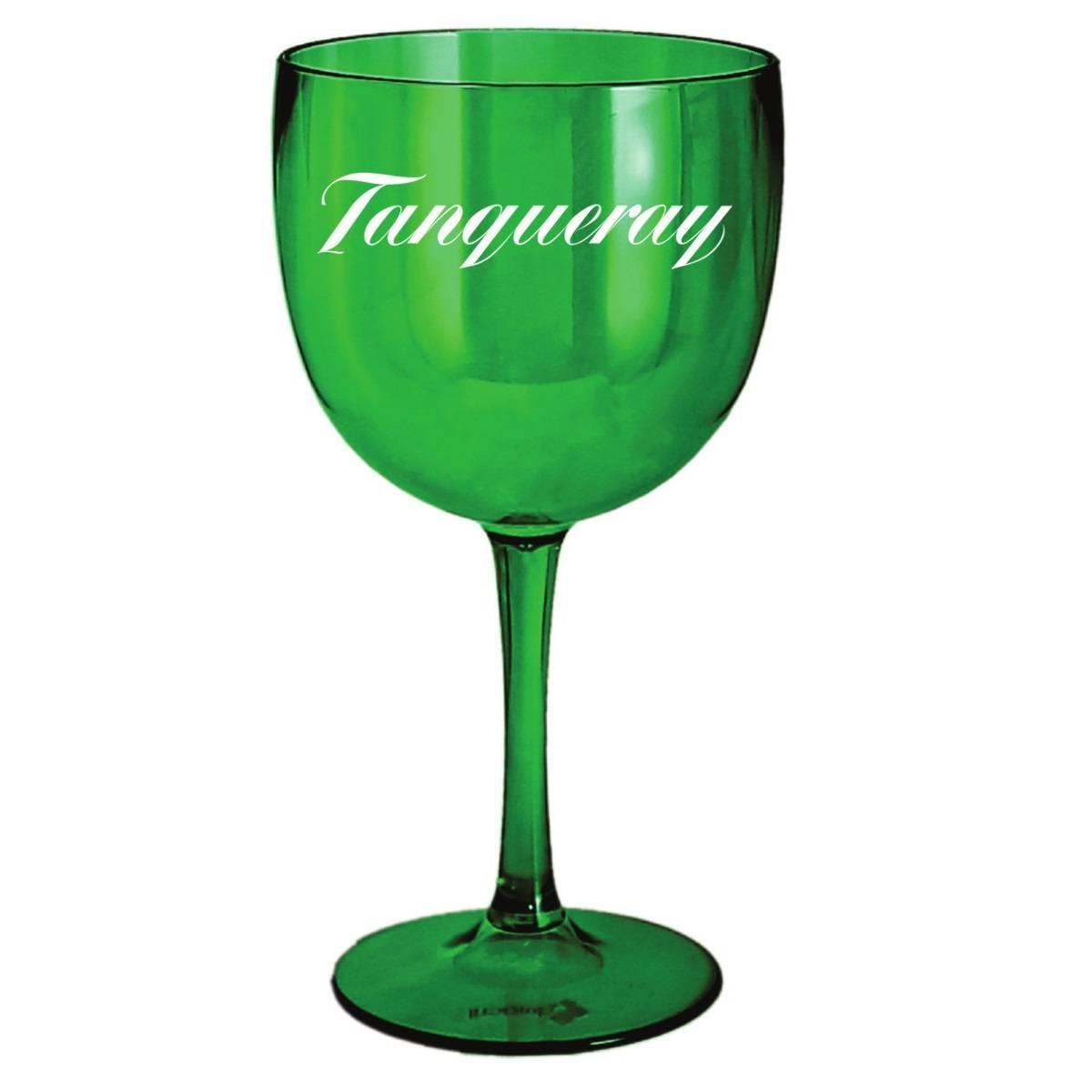 Taça Tanqueray de Gin Acrílico Personalizado Verde 580ml - LCGELETRO