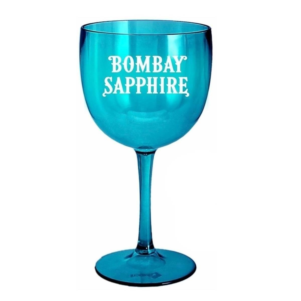 Taça Bombay Sapphire de Gin Acrílico Personalizado Azul 580m - LCGELETRO