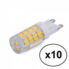 Kit 10 Lâmpadas Led Halopin G9 3w Branco Frio P/ Lustres e Pendentes