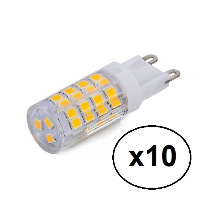Kit 10 Lâmpadas Led Halopin G9 3w Branco Frio P/ Lustres e P - LCGELETRO