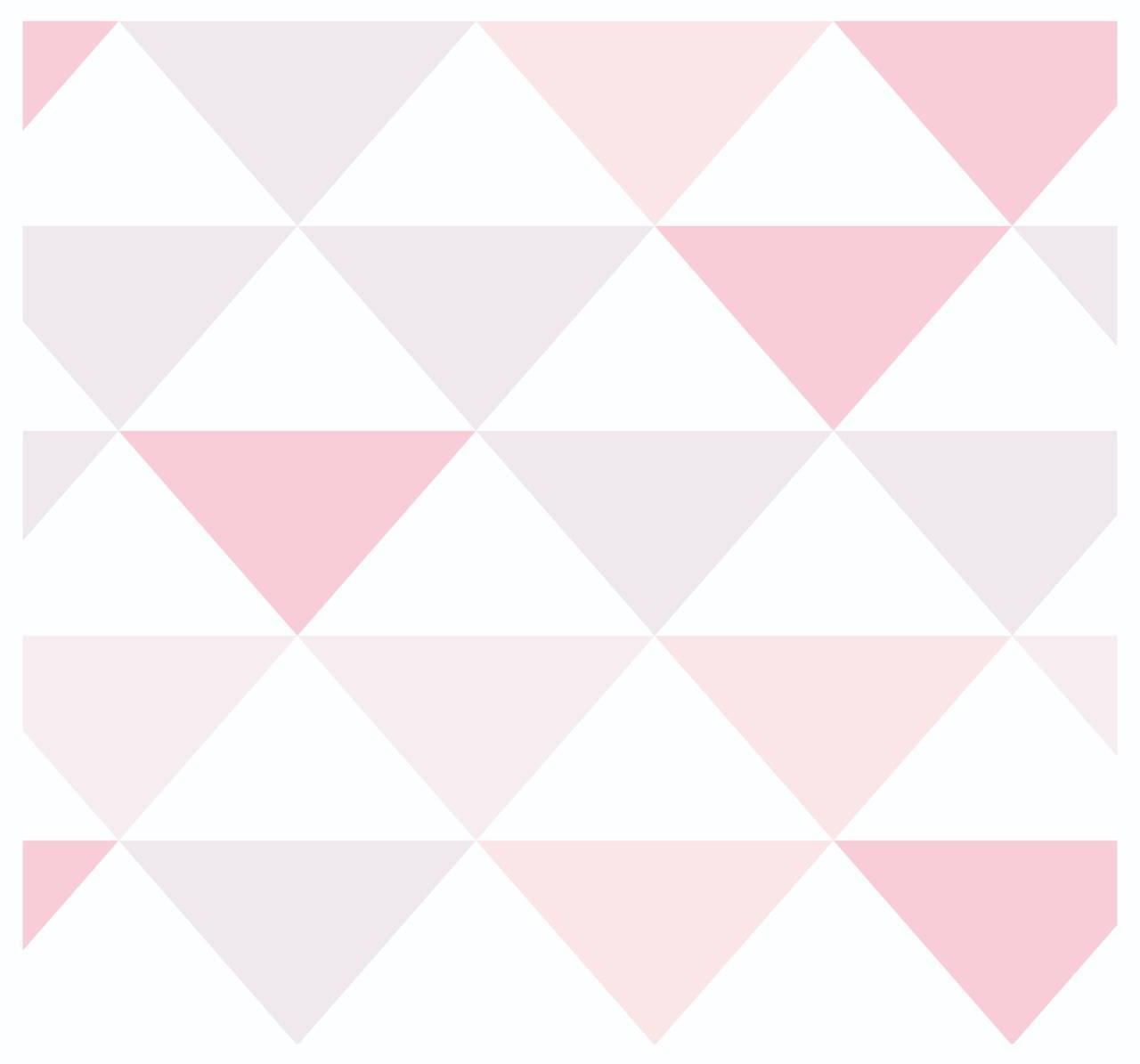 Papel De Parede Adesivo Abstrato Triângulos Rosa 300x52cm - LCGELETRO