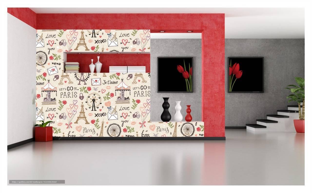 Papel De Parede Adesivo Paris Love You 300x52cm Sala Quarto - LCGELETRO