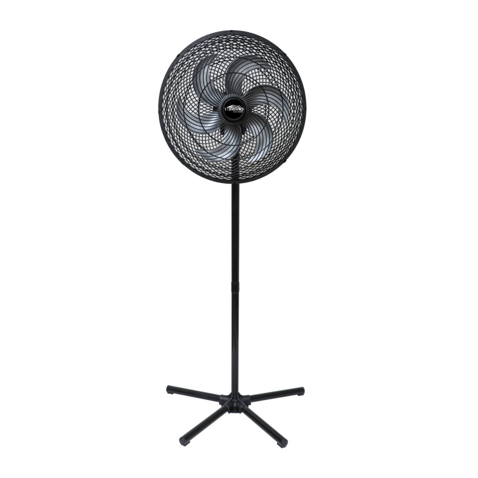 Ventilador De Coluna 6 pás 50cm Preto/Prata Oscilante Turbão - LCGELETRO