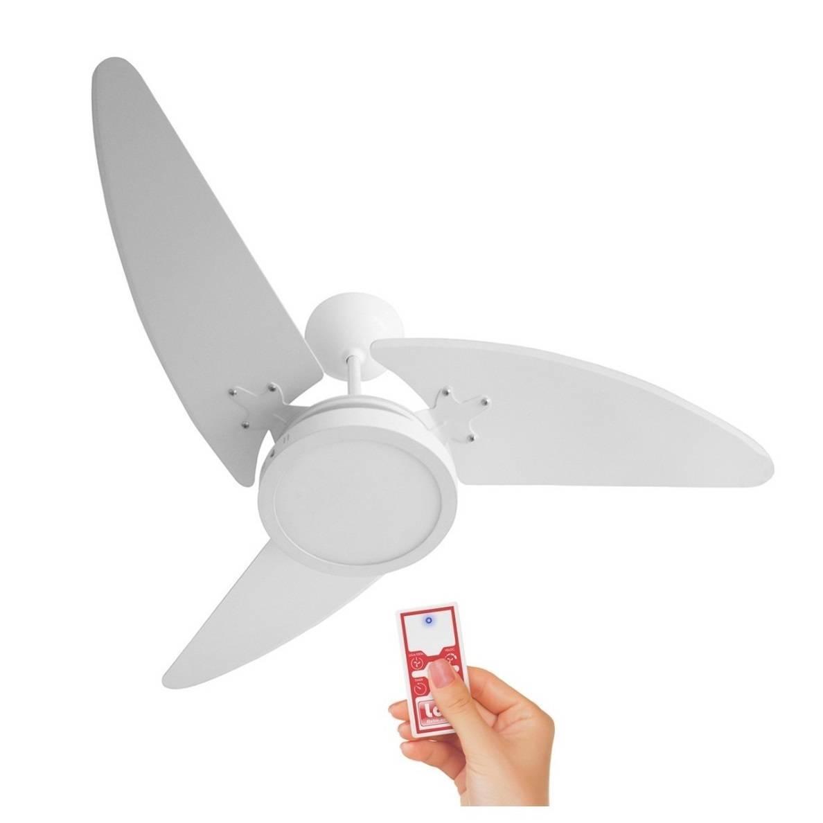 Ventilador De Teto Wind Light Led 18w Roma Ponente Controle  - LCGELETRO