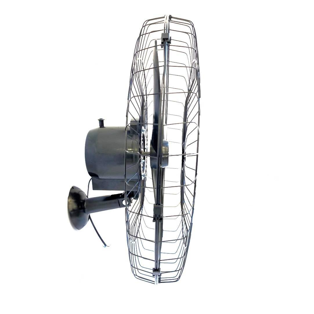 Ventilador de Parede Oscilante 60cm Preto Turbão 155w Rolame - LCGELETRO