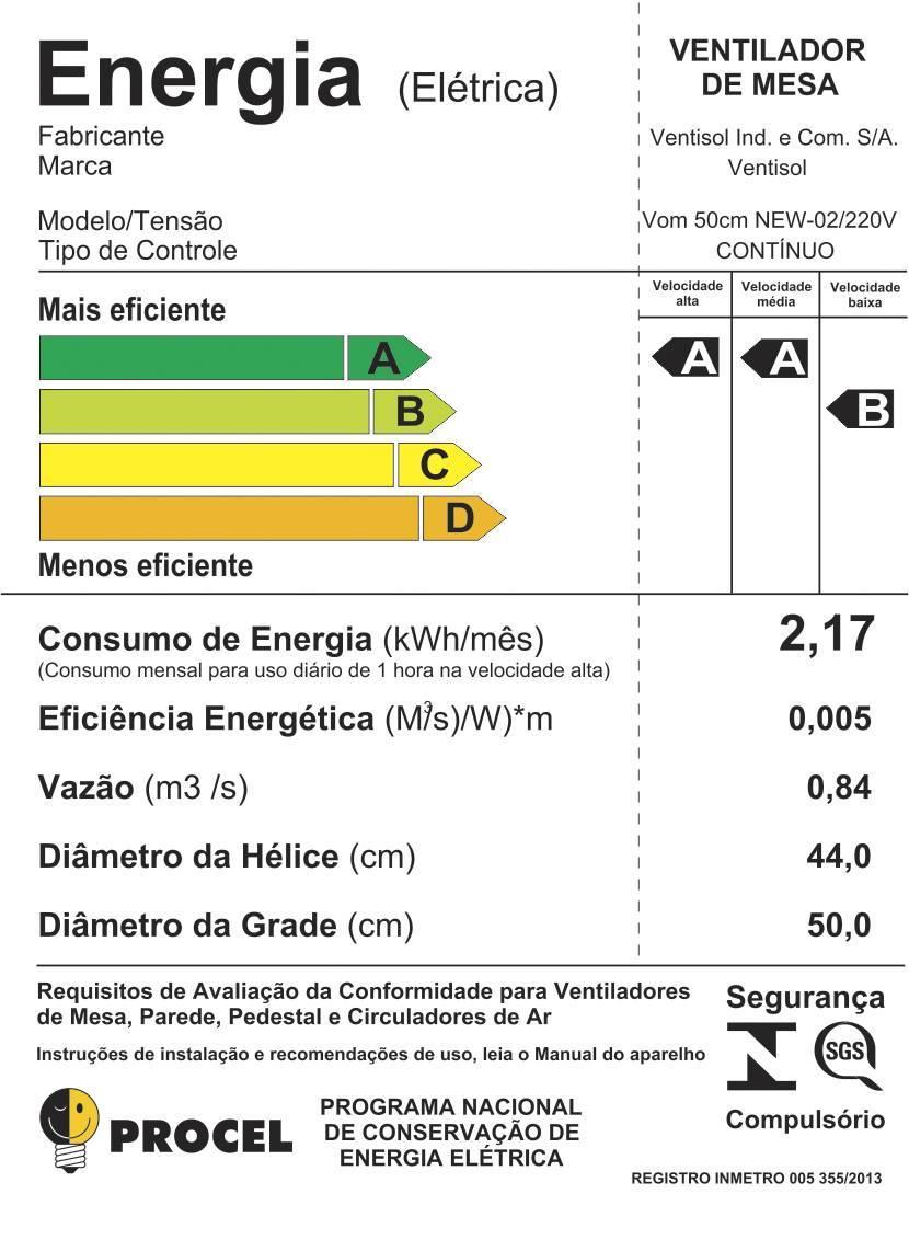 Ventilador Oscilante Mesa New 50cm Silencioso - LCGELETRO