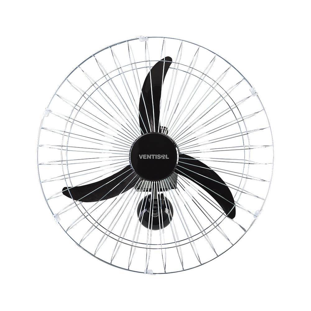 Ventilador de Parede Oscilante 60cm Preto Ventisol - LCGELETRO