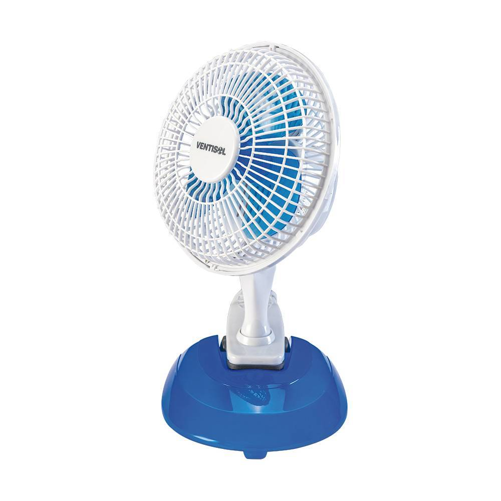 Ventilador Mini 20cm De Mesa 2 em 1 Branco E Azul Ventisol - LCGELETRO