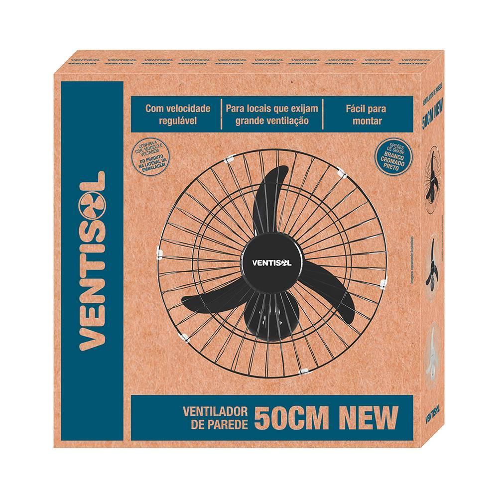 Ventilador de Parede Oscilante 50cm Ventisol Bivolt - LCGELETRO