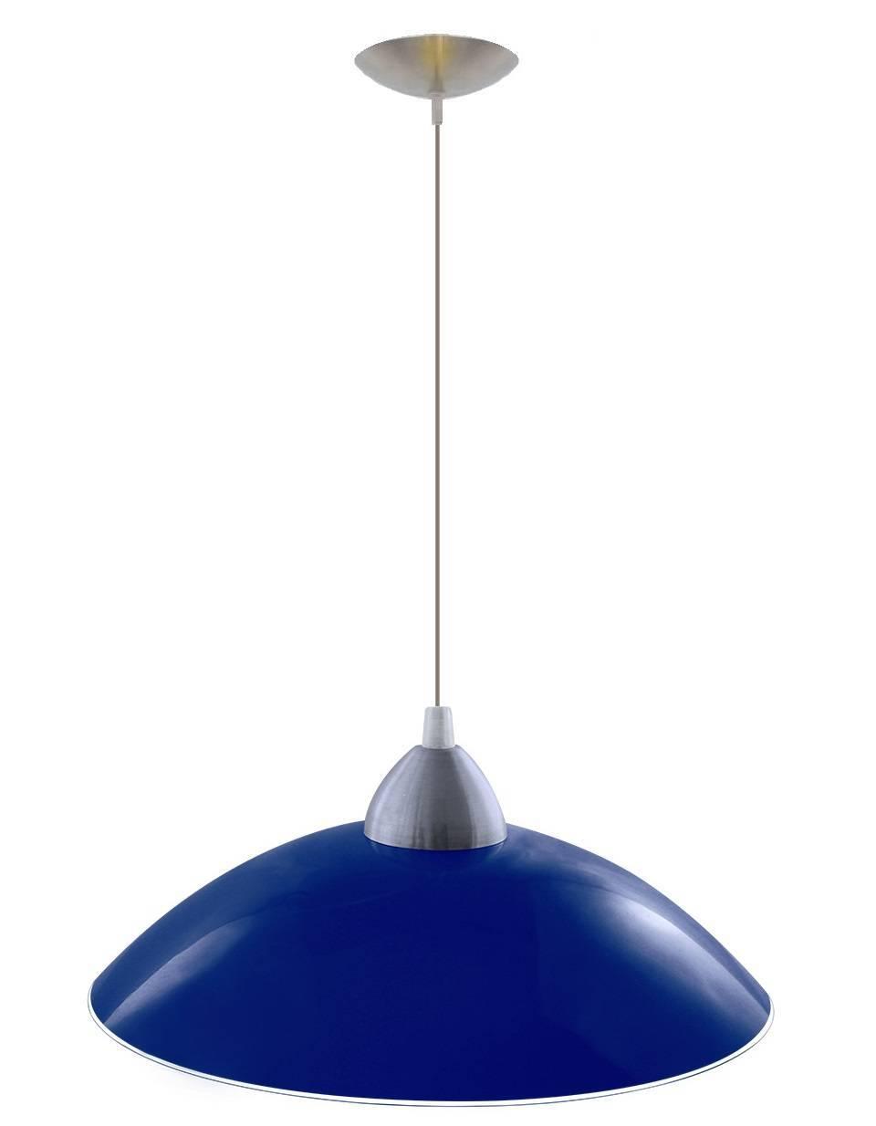 Luminária Pendente Vidro Colorido Plate E27 - LCGELETRO