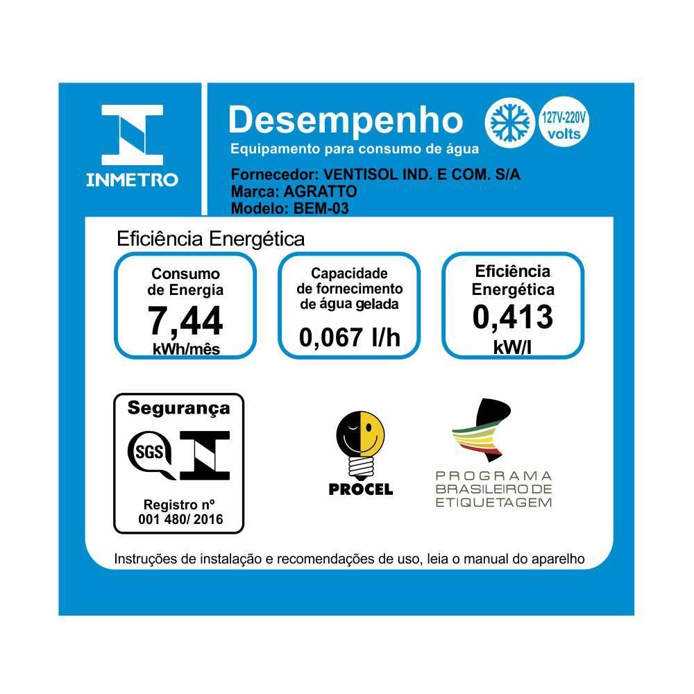 Bebedouro de Água Elétrico de Mesa Ventisol - LCGELETRO