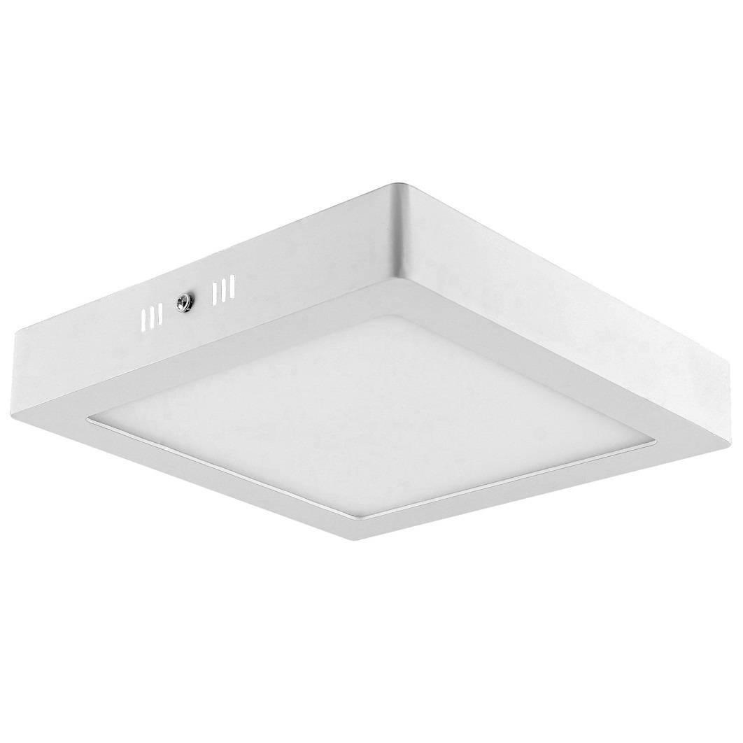 Luminária Plafon Led Sobrepor Quadrado 12w - LCGELETRO