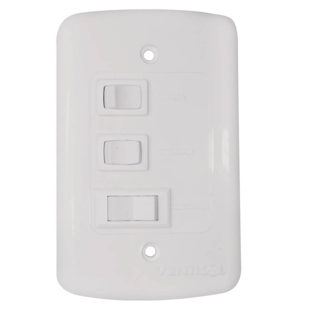 Ventilador De Teto Fenix Branco Para 2 Lâmpadas Luxo Ventiso - LCGELETRO