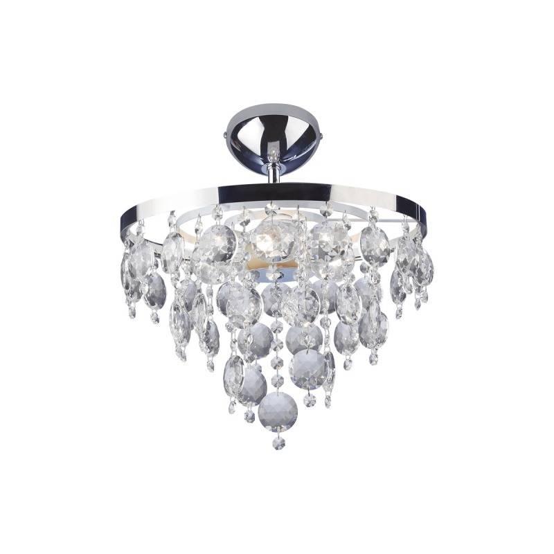 Lustre Plafon Cristal Fenix Redondo Bronzearte 3 Lamp E27 - LCGELETRO