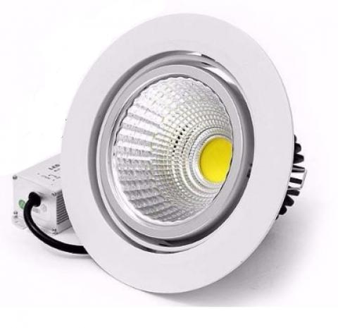 Spot Cob Led 3w Embutir Direcionável Branco Frio - LCGELETRO