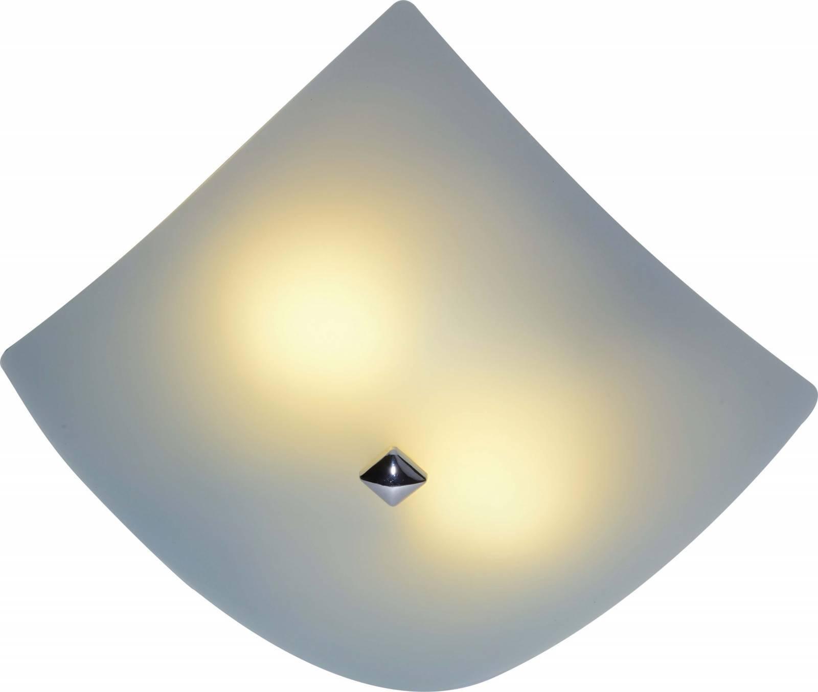 Luminária Quadrada Plafon Central 25cm Vidro Bronzearte - LCGELETRO