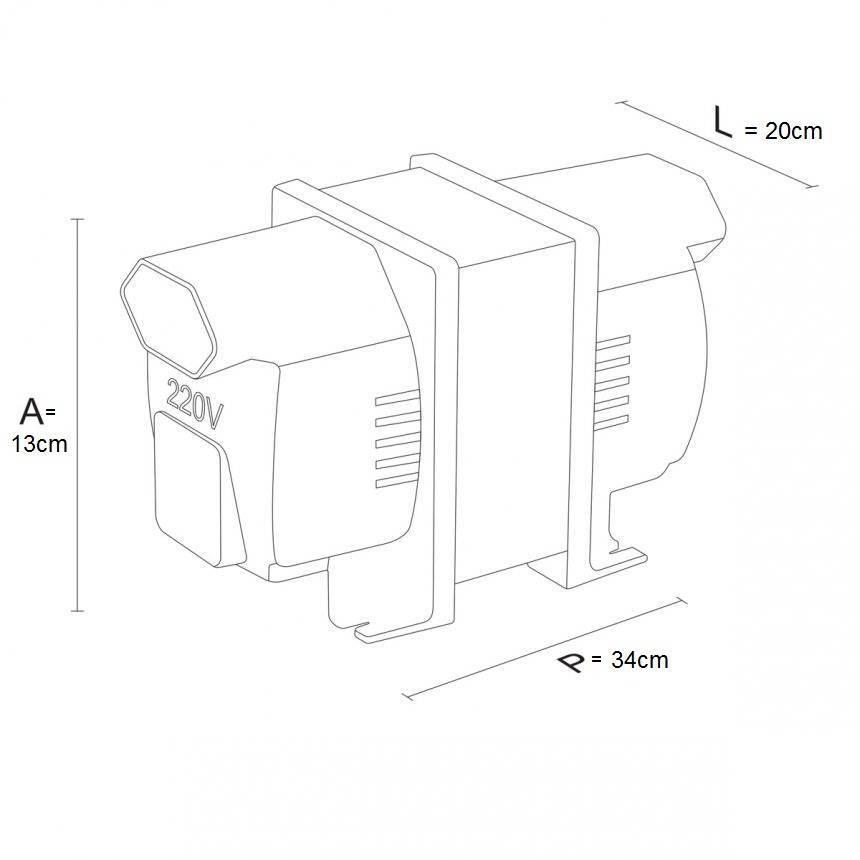 Auto Transformador Bivolt 1010va 707w - LCGELETRO