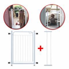 Grade Portão Móvel Proteção Criança Bebê Cão Com Extensor 10cm