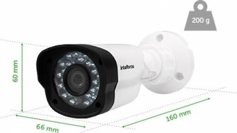 Câmera Intelbras Ahd Ou Analógica 900 Linhas 20m 2.8mm Vm 11 - LCGELETRO