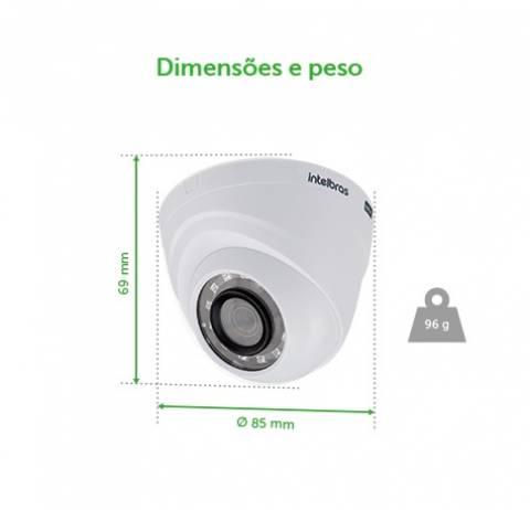 Câmera Intelbras Dome Infravermelho Multi Hd Vhd 1010 D 3.6 - LCGELETRO