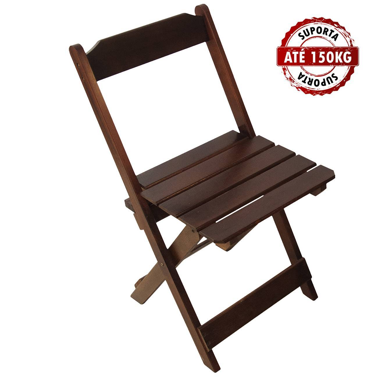 Kit 4 Cadeiras Madeira Maciça Dobrável Imbuia - LCGELETRO