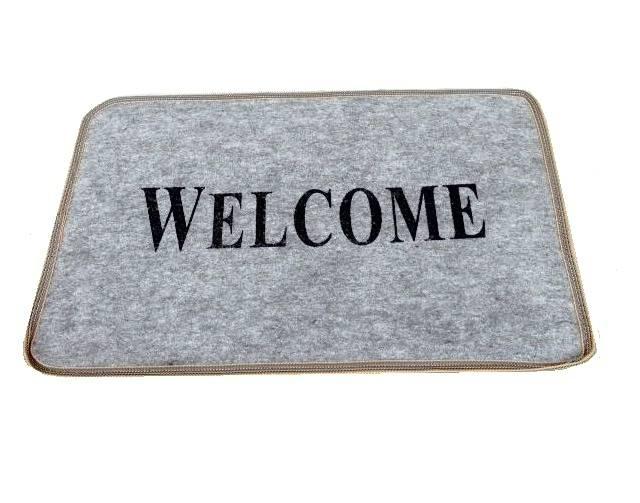 Tapete Entrada Para Porta Welcome Bem Vindo 40x23cm - LCGELETRO