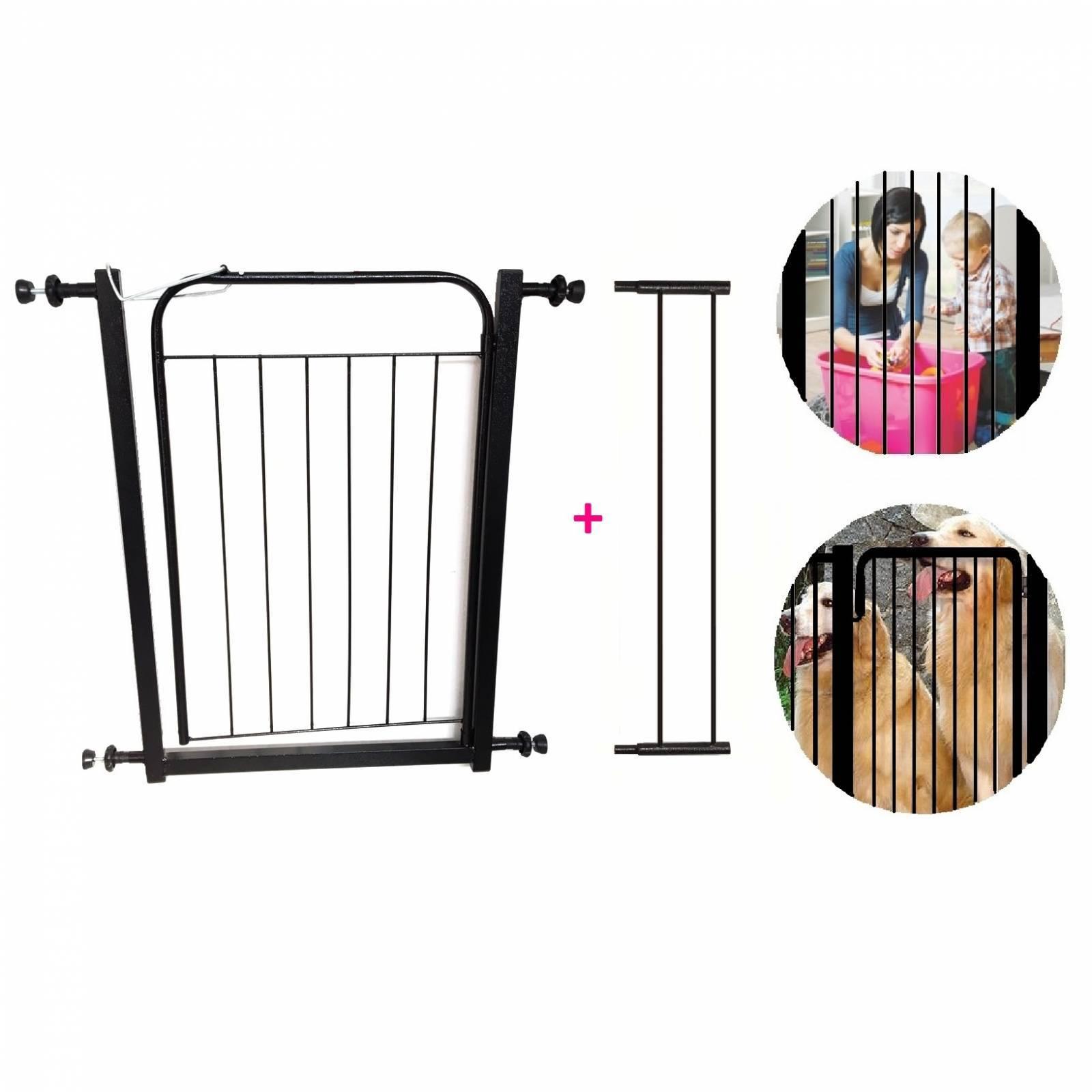 Grade Portão Móvel Proteção Criança Bebê Cão Com Extensor 10 - LCGELETRO
