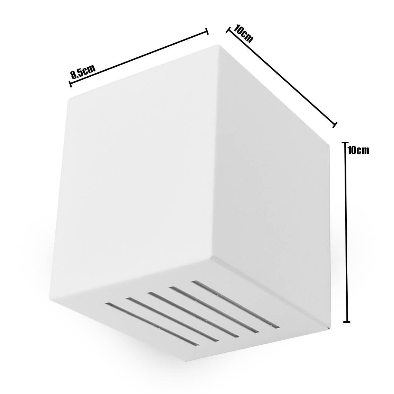 Kit 6 Arandelas Luminária Frisada Efeito Parede Externa/ Int - LCGELETRO