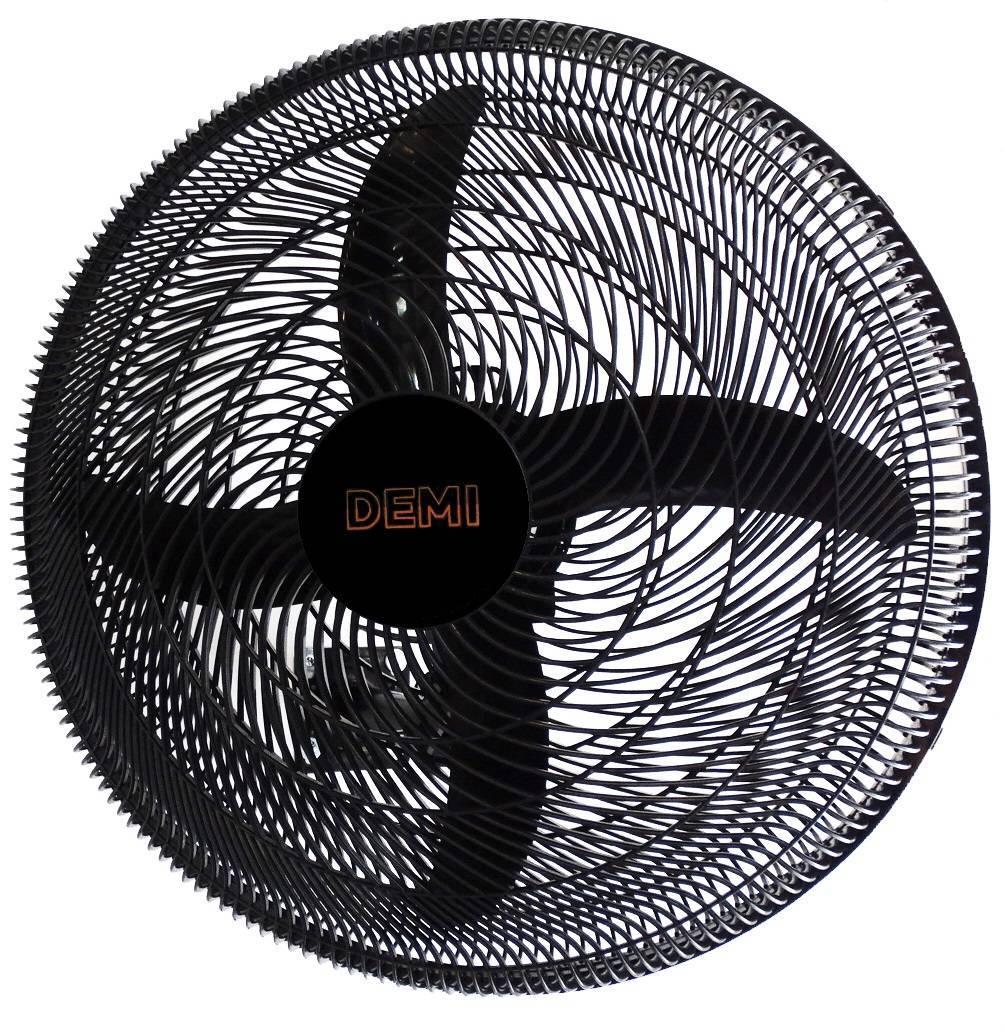 Ventilador de Parede Demi Oscilante Preto 3 Velocidades 50cm - LCGELETRO