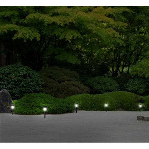 Espeto Solar De Led Para Jardim Luz Branco Frio - LCGELETRO