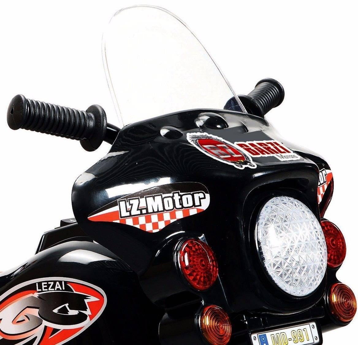Mini Moto Elétrica Infantil Preta Triciclo Para Crianças Pol - LCGELETRO