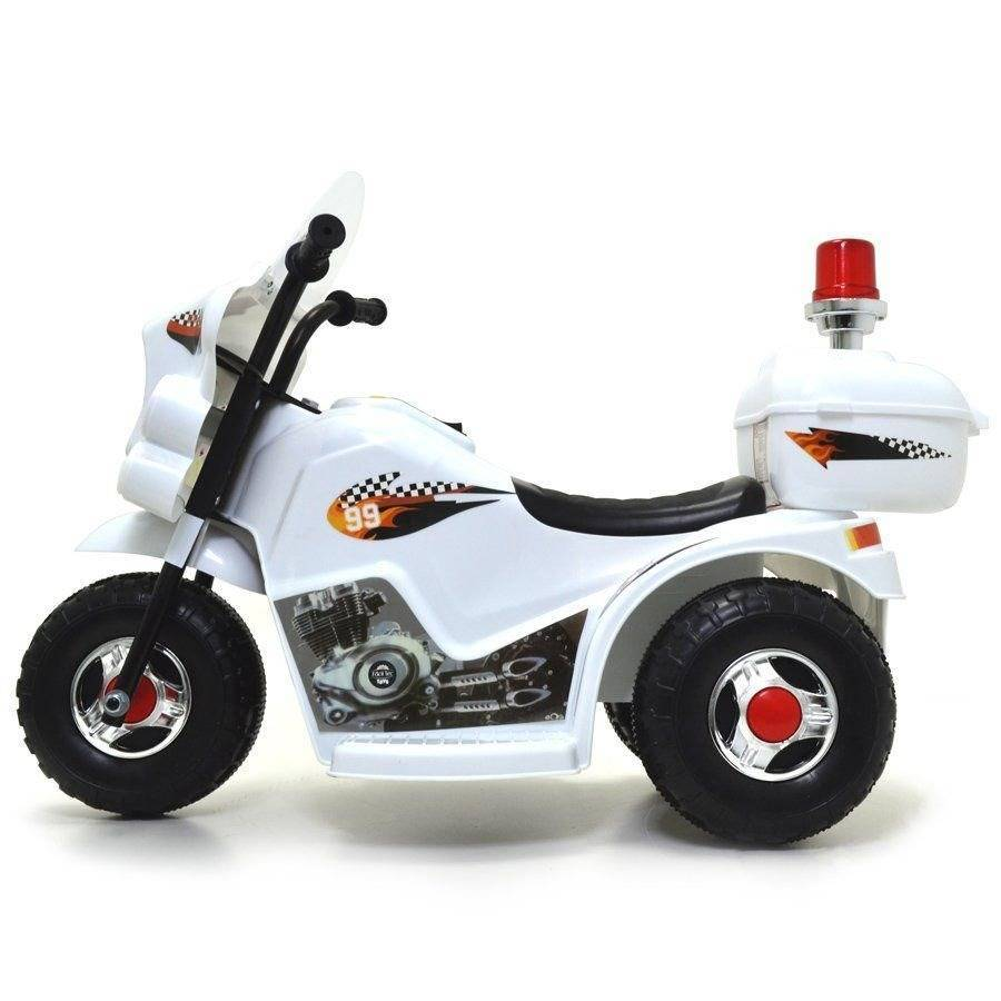 Mini Moto Elétrica Infantil Branca Triciclo Para Crianças Po - LCGELETRO
