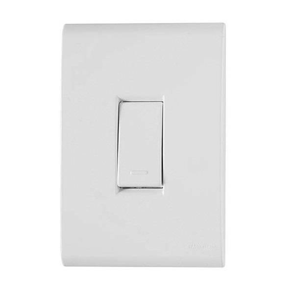 Conjunto Montado Liz 4x2 1 Interruptor Simples Vertical 10A  - LCGELETRO
