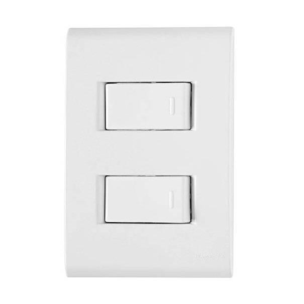 Conjunto Montado Liz 4x2 2 Interruptores Simples 10A 250v Af - LCGELETRO
