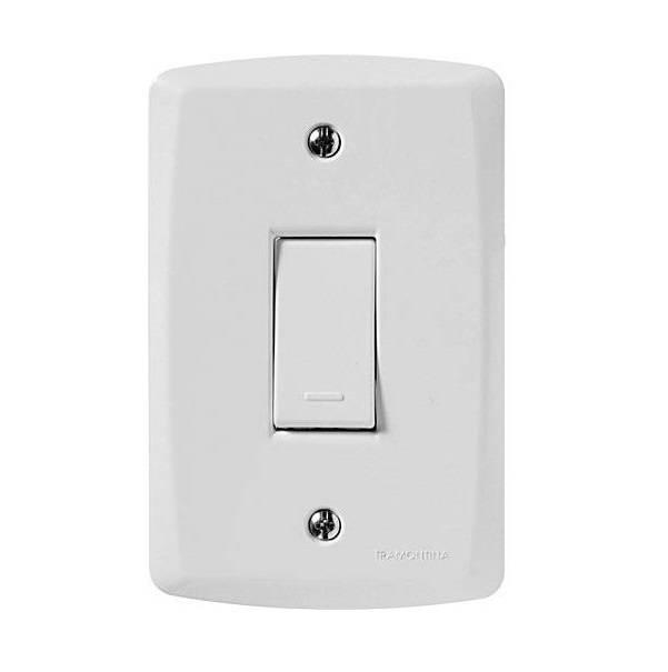 Conjunto Montado Lux² 4x2 1 Interruptor Simples 10A 250V Ver - LCGELETRO