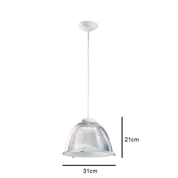 Pendente Prismático Branco Para Lâmpada E27 Cozinha American - LCGELETRO