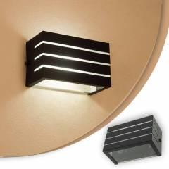 Arandela Frisada Luminária Preta Para Muro Parede Externa G9