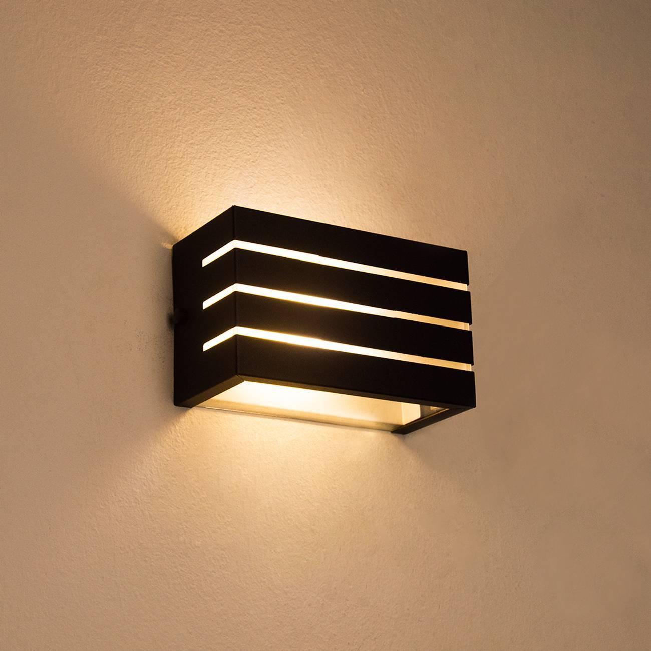 Arandela Frisada Luminária Preta Para Muro Parede Externa G9 - LCGELETRO