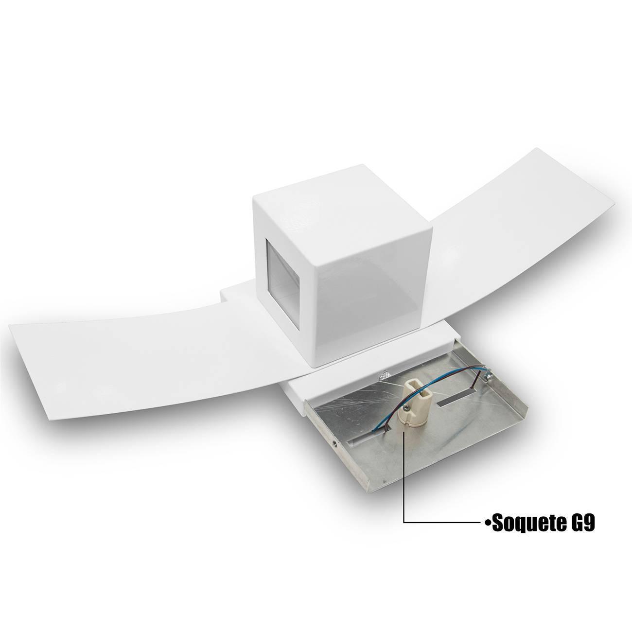 Arandela Box Com Aba 2 Focos - LCGELETRO