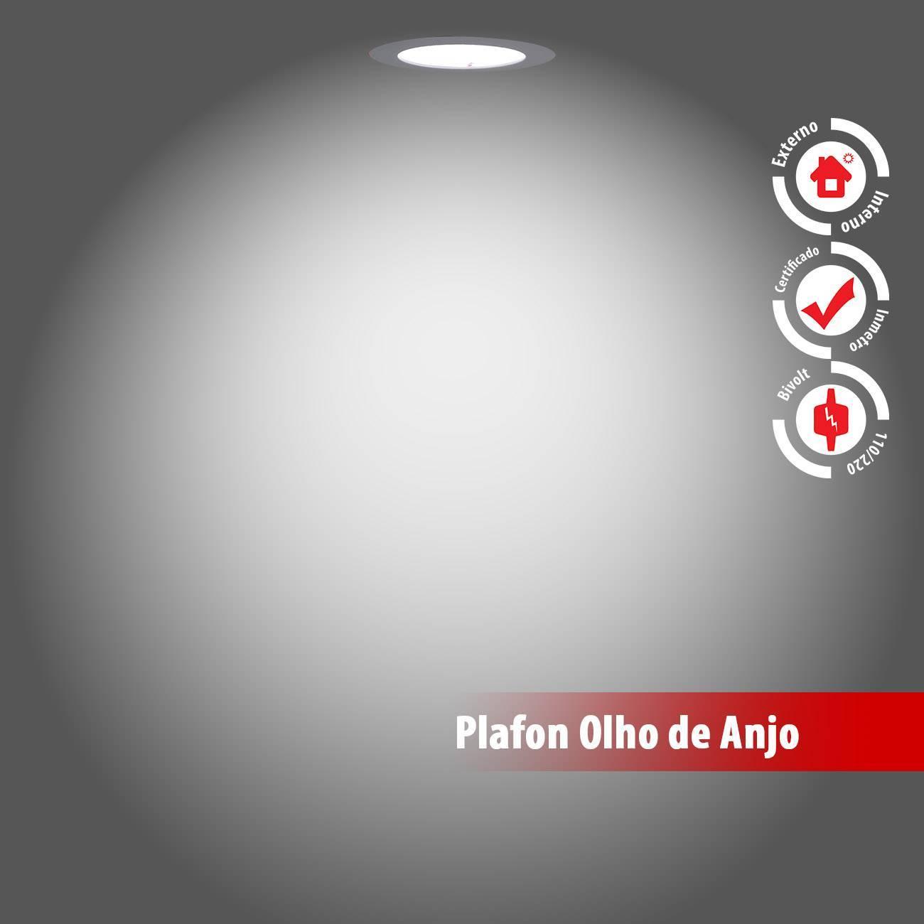 Luminária Plafon Led Embutir Slim 18w 6000k Branco Frio - LCGELETRO