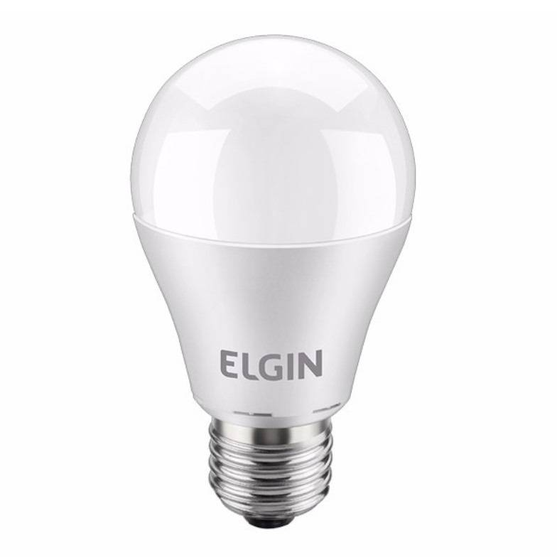 Lâmpada Led 12w Bulbo E27 Bivolt Elgin Branca 1100lm Inmetro - LCGELETRO