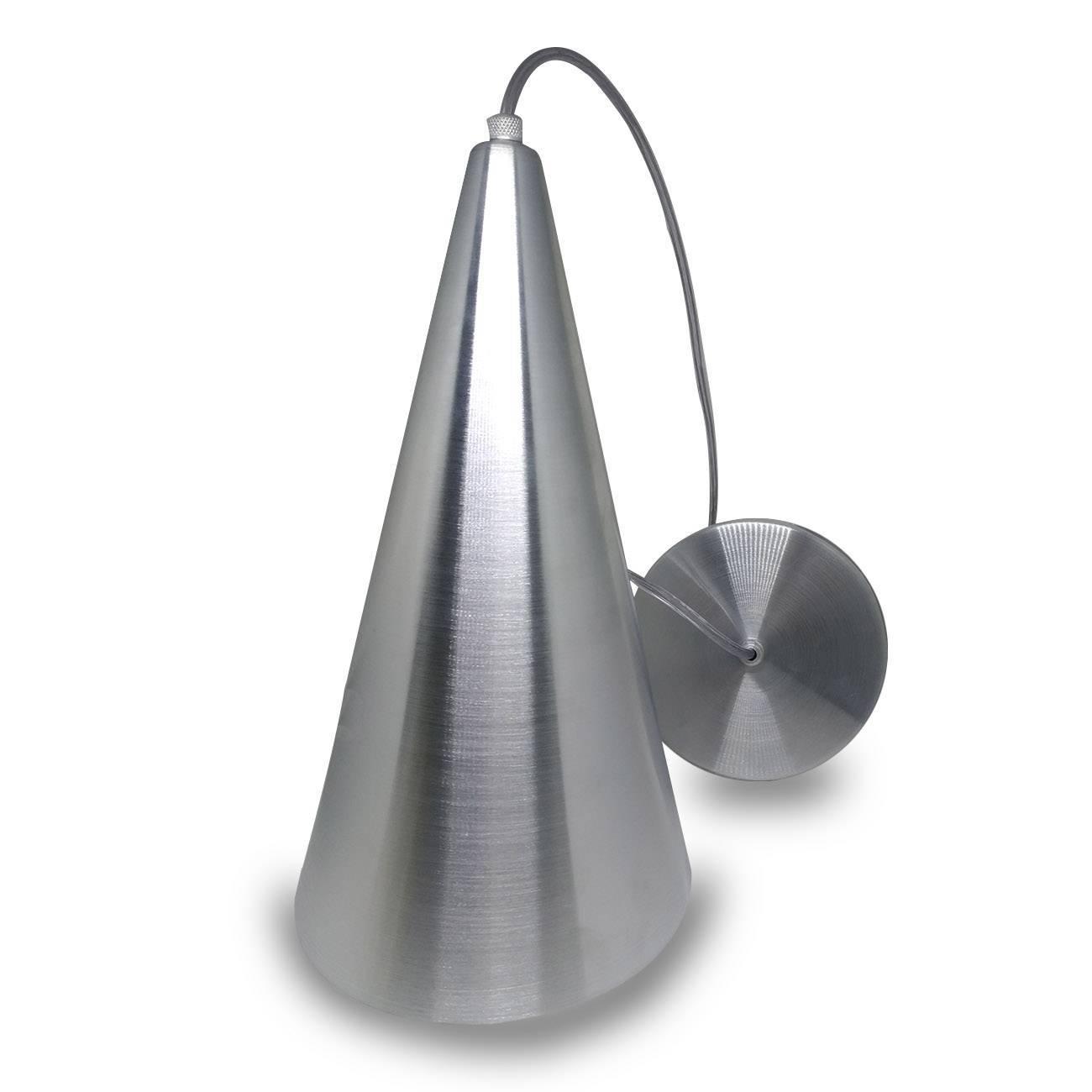 Pendente Cone Alumínio Escovado Para Lâmpada E27 - LCGELETRO