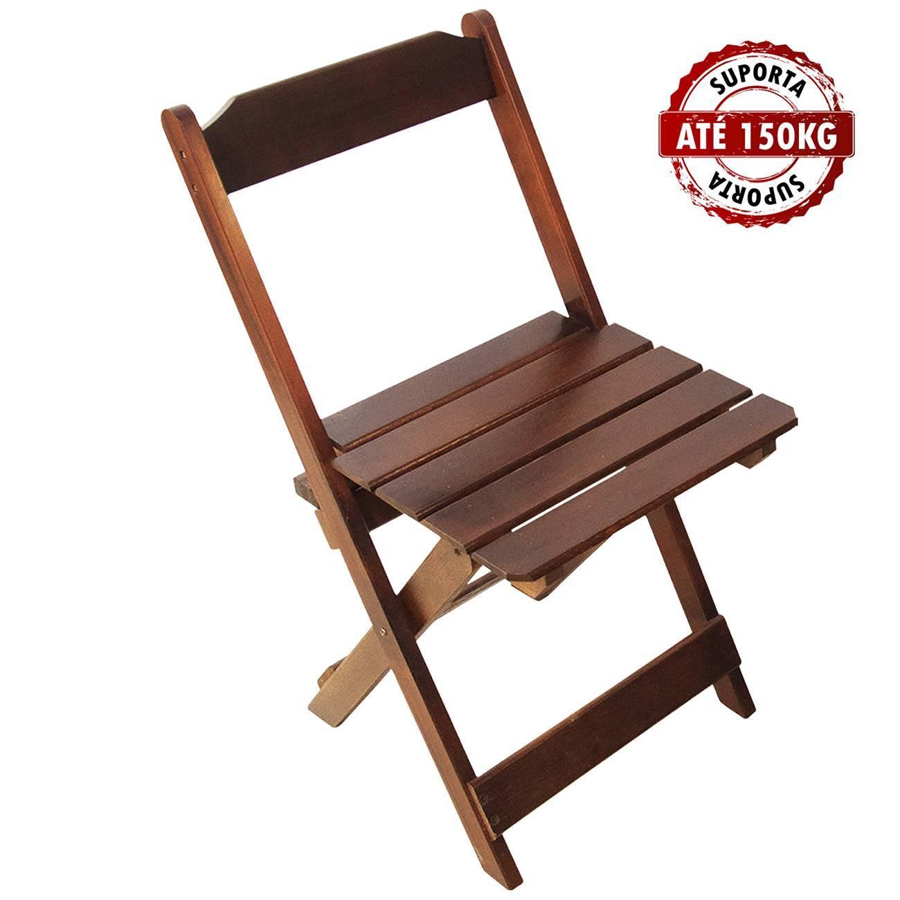 Jogo De Mesa Conjunto 4 Cadeiras Madeira 70 por 70 Dobráveis - LCGELETRO