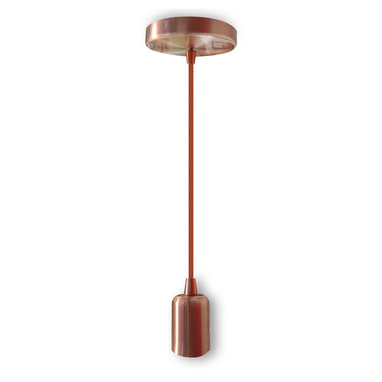 Pendente Cobre Luminária Slim Fio E27 - LCGELETRO